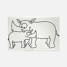 rhinos Rectangle Magnet