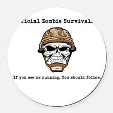 survivalist Round Car Magnet