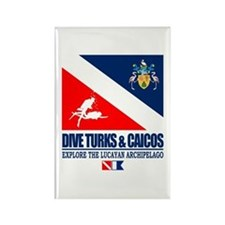 Dive Turks and Caicos Rectangle Magnet