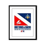 Dive Turks and Caicos Framed Panel Print