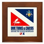 Dive Turks and Caicos Framed Tile