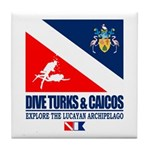 Dive Turks and Caicos Tile Coaster