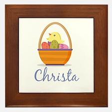 Easter Basket Christa Framed Tile