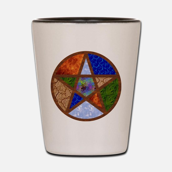 Elemental Pentacle Shot Glass