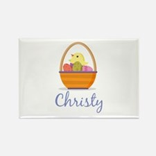 Easter Basket Christy Rectangle Magnet