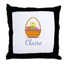 Easter Basket Claire Throw Pillow