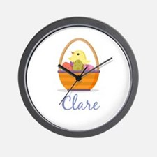 Easter Basket Clare Wall Clock