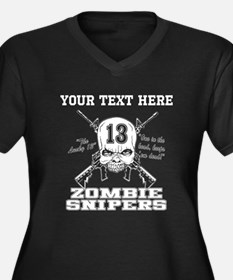 Zombie Snipers dark Plus Size T-Shirt