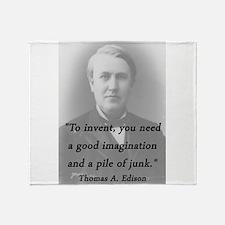Edison - To Invent Throw Blanket