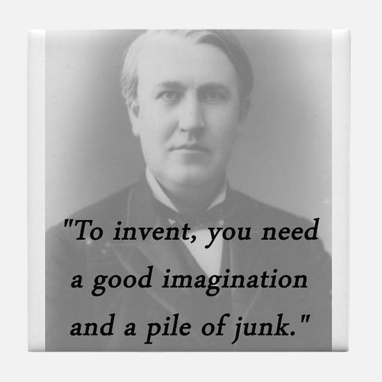 Edison - To Invent Tile Coaster