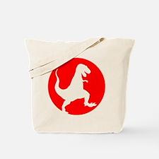 Red TRex Rampage Tote Bag