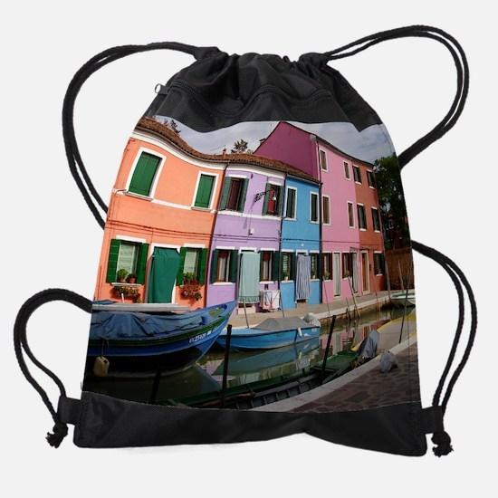 Burano1.jpg Drawstring Bag