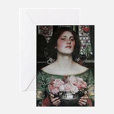 Gather Ye Rosebuds by Waterhouse Greeting Card