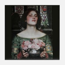Gather Ye Rosebuds by Waterhouse Tile Coaster