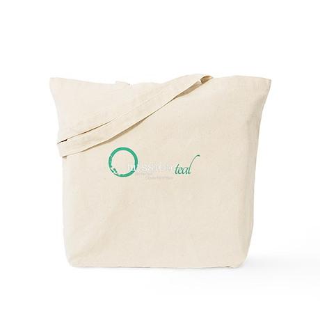 Omission Teal Logo Tote Bag