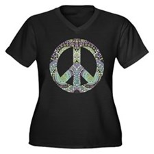Groovy Summer Peace Plus Size T-Shirt