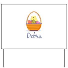 Easter Basket Debra Yard Sign