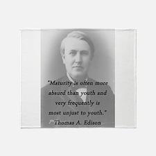 Edison - Maturity Throw Blanket