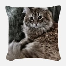 The Cat Woven Throw Pillow