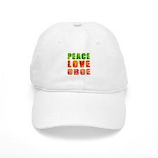 Peace Love Oboe Baseball Cap