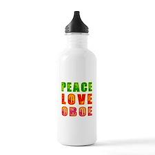 Peace Love Oboe Water Bottle