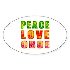Peace Love Oboe Decal