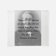 Edison - Lifes Failures Throw Blanket