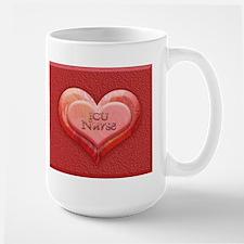 I heart ICU Nurse Large Mug