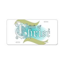 Child of Christ waves Aluminum License Plate