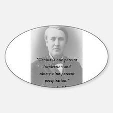 Edison - Genius Decal