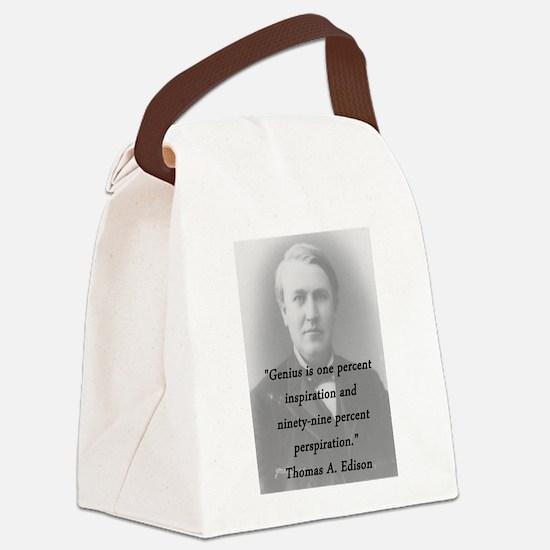 Edison - Genius Canvas Lunch Bag