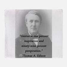 Edison - Genius Throw Blanket