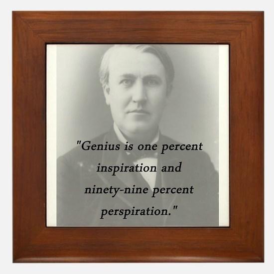 Edison - Genius Framed Tile