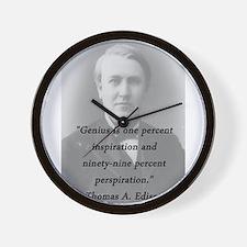 Edison - Genius Wall Clock