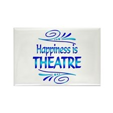 Happiness is Theatre Rectangle Magnet (100 pack)
