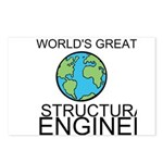 Worlds Greatest Structural Engineer Postcards (Pac
