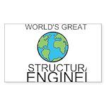 Worlds Greatest Structural Engineer Sticker
