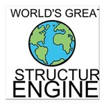 Worlds Greatest Structural Engineer Square Car Mag