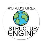 Worlds Greatest Structural Engineer Round Car Magn