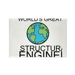 Worlds Greatest Structural Engineer Rectangle Magn