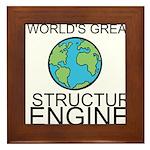 Worlds Greatest Structural Engineer Framed Tile