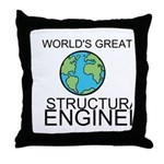 Worlds Greatest Structural Engineer Throw Pillow