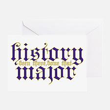 History Major Greeting Card