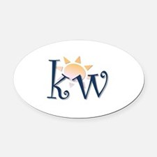 Key West Oval Car Magnet