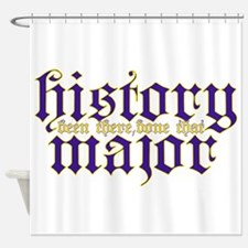 History Major Shower Curtain
