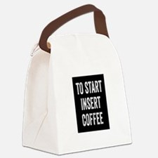 To Start Insert Coffee Canvas Lunch Bag