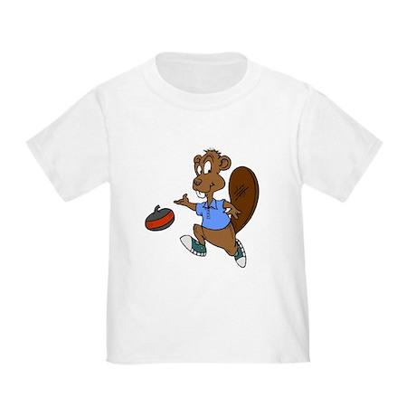 """Curling beaver"" Toddler T-Shirt"