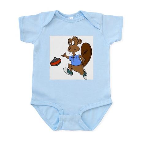 """""""Curling beaver"""" Infant Creeper"""