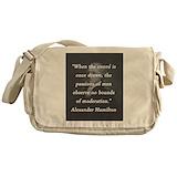 Alexander hamilton quote Messenger Bags
