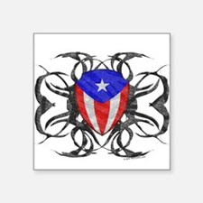 Puerto Rico Tribal Oval Sticker
